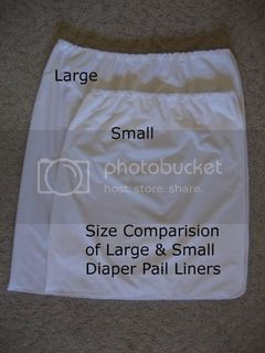 Pail Liner Size Comparison