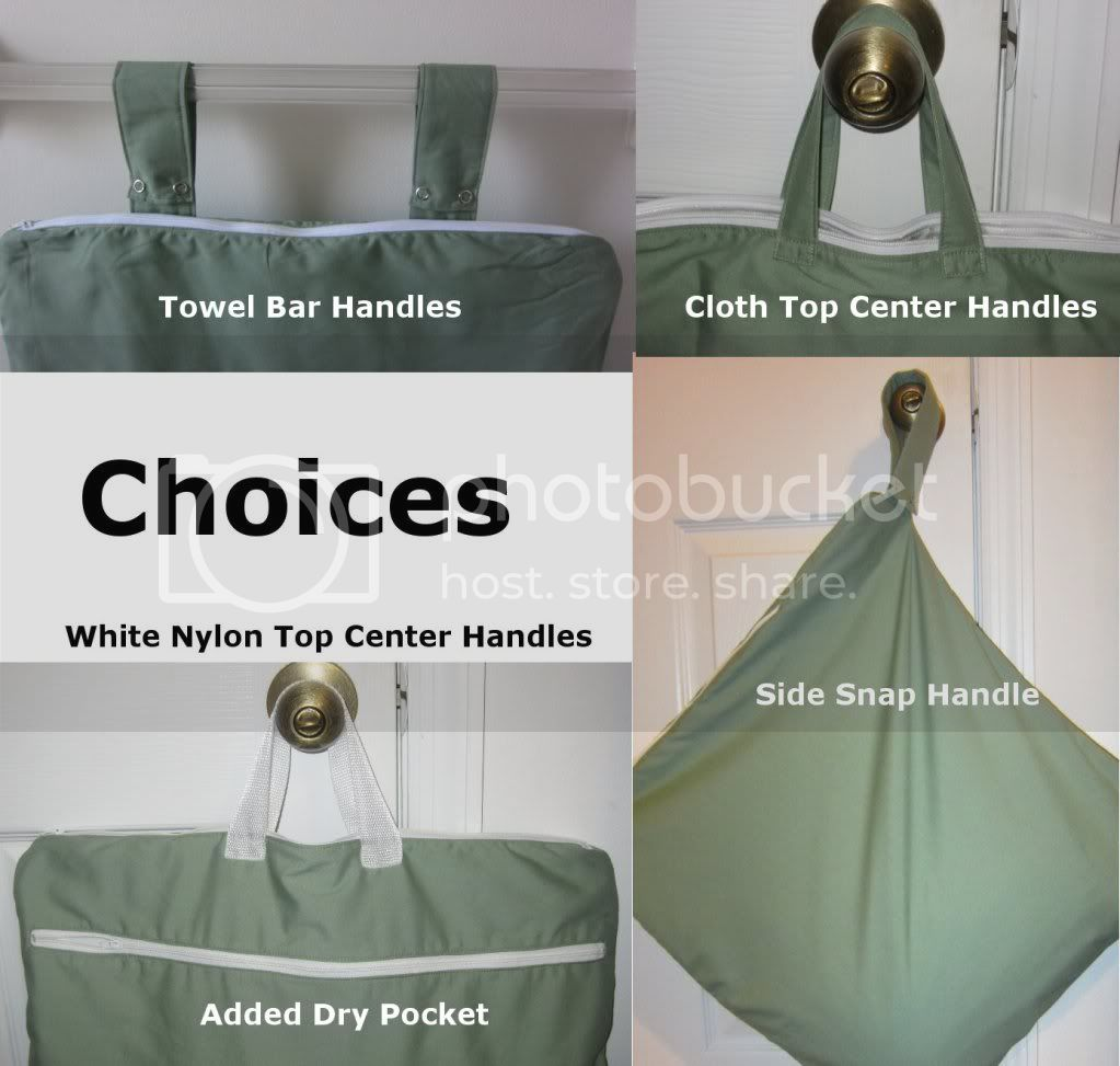 Large Wet Bag Choices