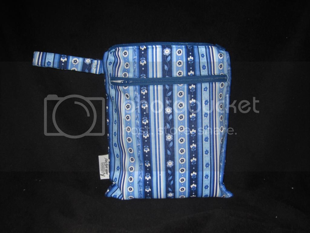 Blue Floral Stripes &lt;br&gt; Small Wet/Dry Bag